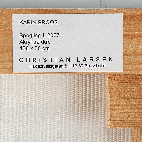"""Karin broos, """"spegling i""""."""