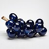 Kjell janson, a glazed stoneware sculpture of a bunch of grapes, mora, sweden.