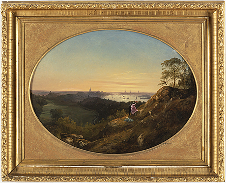 Joseph magnus stÄck, oil on panel, signed and dated 1852.