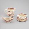 """Mat- samt kaffe/teservis, 93 delar, flintgods. gustavsberg, """"willow"""", 1940-1958."""