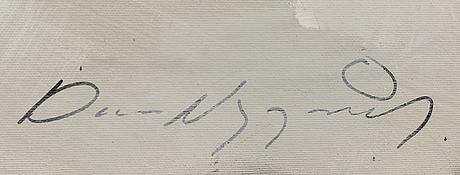 Dan nygÅrds, diptyk (2 st), olja på duk, signerade.