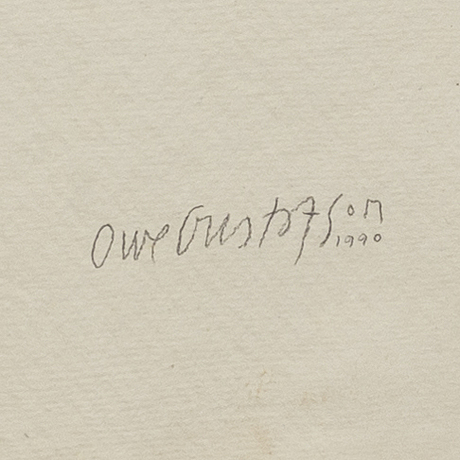 Owe gustafsson, blandteknik, signerad 1990.