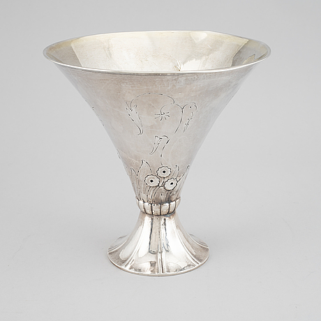 K. andersson, skÅl pÅ fot, silver, stockholm, 1931,