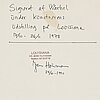 Andy warhol, offset-serigrafi. signerad med dedikation.