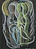 Arvid broms, pastel on paper, signed and dated -61.