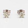 ÖrhÄngen, 14k vitguld, diamanter ca 0.46 ct tot.