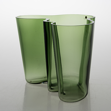 "Alvar aalto, vase, ""savoy"" 50 years, signed a. aalto 1936-1986 iittala 1032/8000."