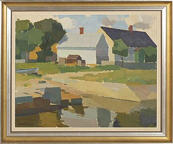 RICHARD BJÖRKLUND, a signed and dated oil on canvas.