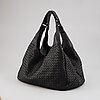 Bottega veneta, black leather bag.
