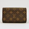 Louis vuitton, a monogram canvas wallet.