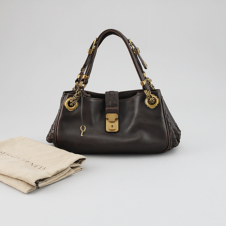 Bottega veneta, brown leather bag.