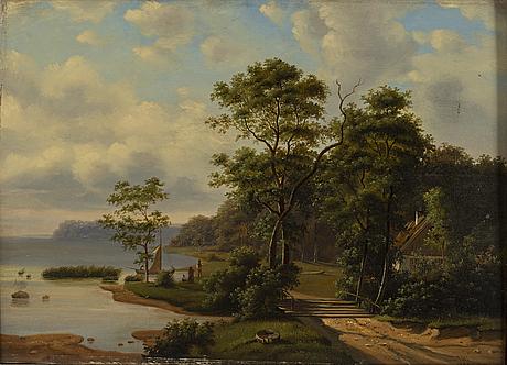 OkÄnd konstnÄr 1800-tal, olja på duk, signerad s.w. och daterad 1869.