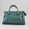 ChloÉ, a green leather bag.