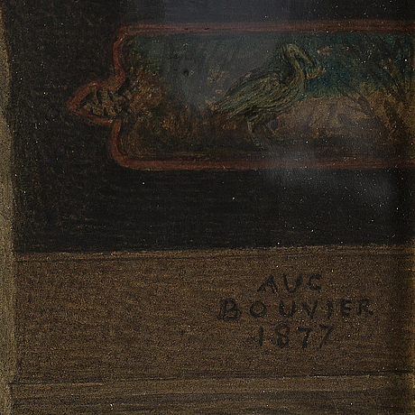 Augustus jules bouvier, watercolour, bears signature aug bouvier and dated 1877.