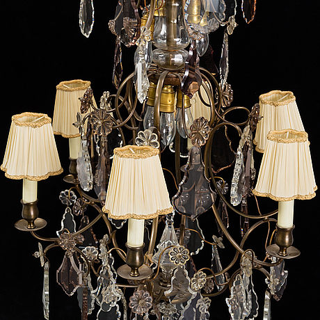 A six light chandalier, rococo style, 20th century.