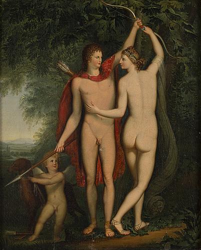 Jonas ÅkerstrÖm, after. unsigned. oil on canvas 48.5 x 39.5 cm.