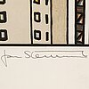 Jan stenmark, lithograph in colours, signed 105/190.
