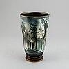 "Gunnar nylund, a ""flambé"" stoneware vase, rörstrand, swede, 1930-40's."