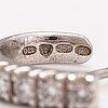 Örhängen, 18k vitguld, diamanter ca 0.40 ct tot. kultajousi, helsingfors 2009.