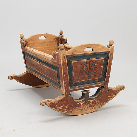 A cradle dated 18.9 1845.