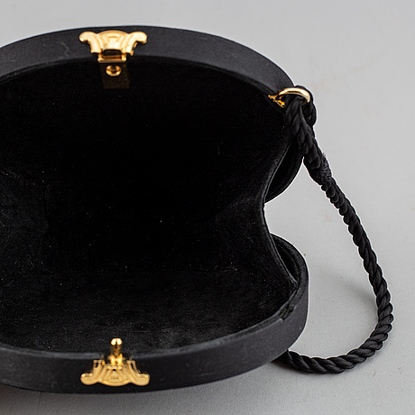 Celine, a velvet evening clutch/shoulder bag.