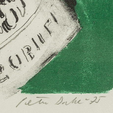 Peter dahl, lithograph in colours, signed peter dahl, dated -75 and numbered 107/180 in pencil.