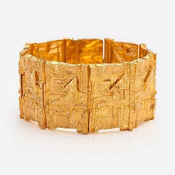 "Björn Weckström, An 18K gold bracelet ""Opus 381"". Lapponia 1969."