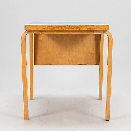 Alvar aalto, a mid-20th century drop leaf table for artek finland.