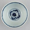 A blue and whtie bowl and dish, ming dynasty, 16th century.