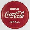 A coca-cola 1960's sign.