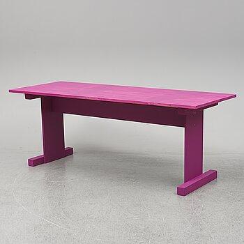"FREDRIK PAULSEN, a table executed for the Design bar ""Fredriks Fun Fair"" at the Stockholm Furniture and Light Fair, 2020."