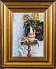 Johanna oras, oil on canvas, signed. a tergo dedication and date 1994.