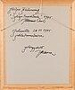 Johanna oras, vesiväri, signeerattu, a tergo omistuskirjoitus ja päiväys 1995.