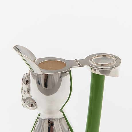 """Kanna och snapsglas """"snubbar"""", sterling silver, glas. ru runeberg 2007."""