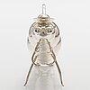 """A sterling silver liquor decanter """"caterpillar"""". ru runeberg 2015."""