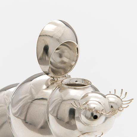 """Spritkanna """"fjärilslarv"""", sterling silver. ru runeberg 2015."""