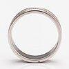 Ring, 18k vitguld, diamanter ca 0.36 ct tot.