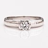 An 18k white gold ring with diamonds ca. 0.28 ct. marski's.