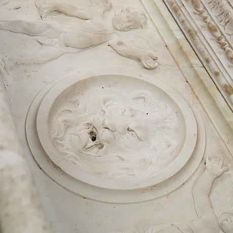 Handfat/fontÄn, marmor, 1800/1900-tal.