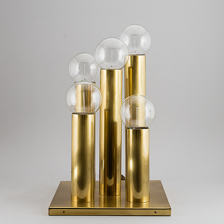 A brass table lamp, 21st century.