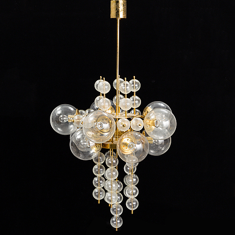 A large ceiling lamp, italy, second half of 20th century.