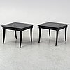 A pair of restoraiton hardware side tables, 21st century.