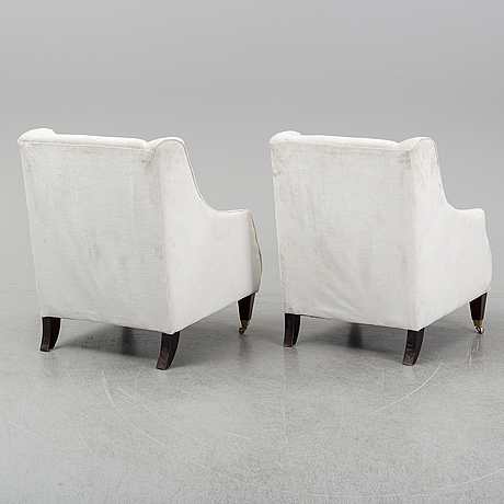 A pair of laura ashley easy chairs, 21st century.