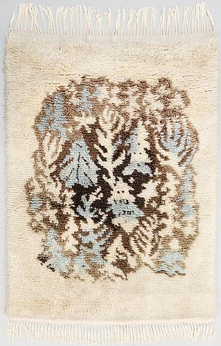 Toini nystrÖm,  a finnish long pile rug. circa 160x115 cm.