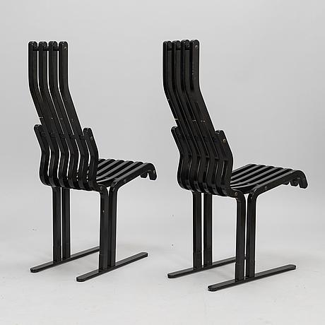 "Kari asikainen, two ""scheletro"" chairs for martela 1980-1989."