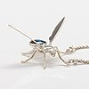"""A sterling silver necklace """"bee"""" with labradorite. ru runeberg 2013."""