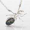 "A sterling silver necklace ""ant"" with a concrete opal. ru runeberg 2013."
