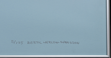 Bertil herlow svensson, 4 signed and numbered colour lithographs.