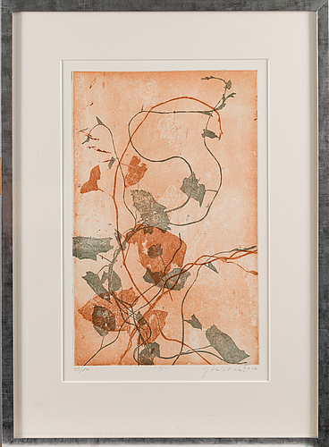 Johanna koistinen, etching, signed and dated 2016, numbered 46/80.