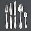 Gab, a 'vasa' part silver cutlery, stockholm, second half of the 20th century (44 pieces).